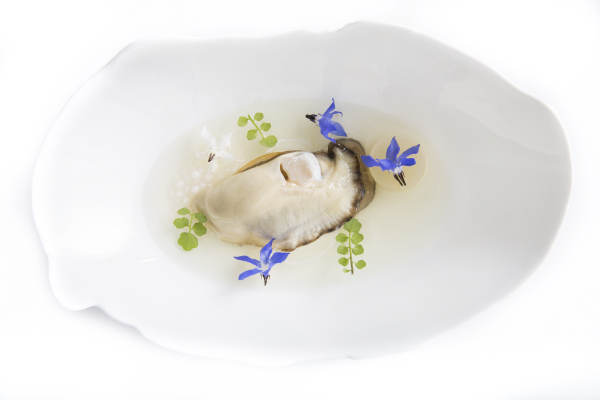 Oyster and pear