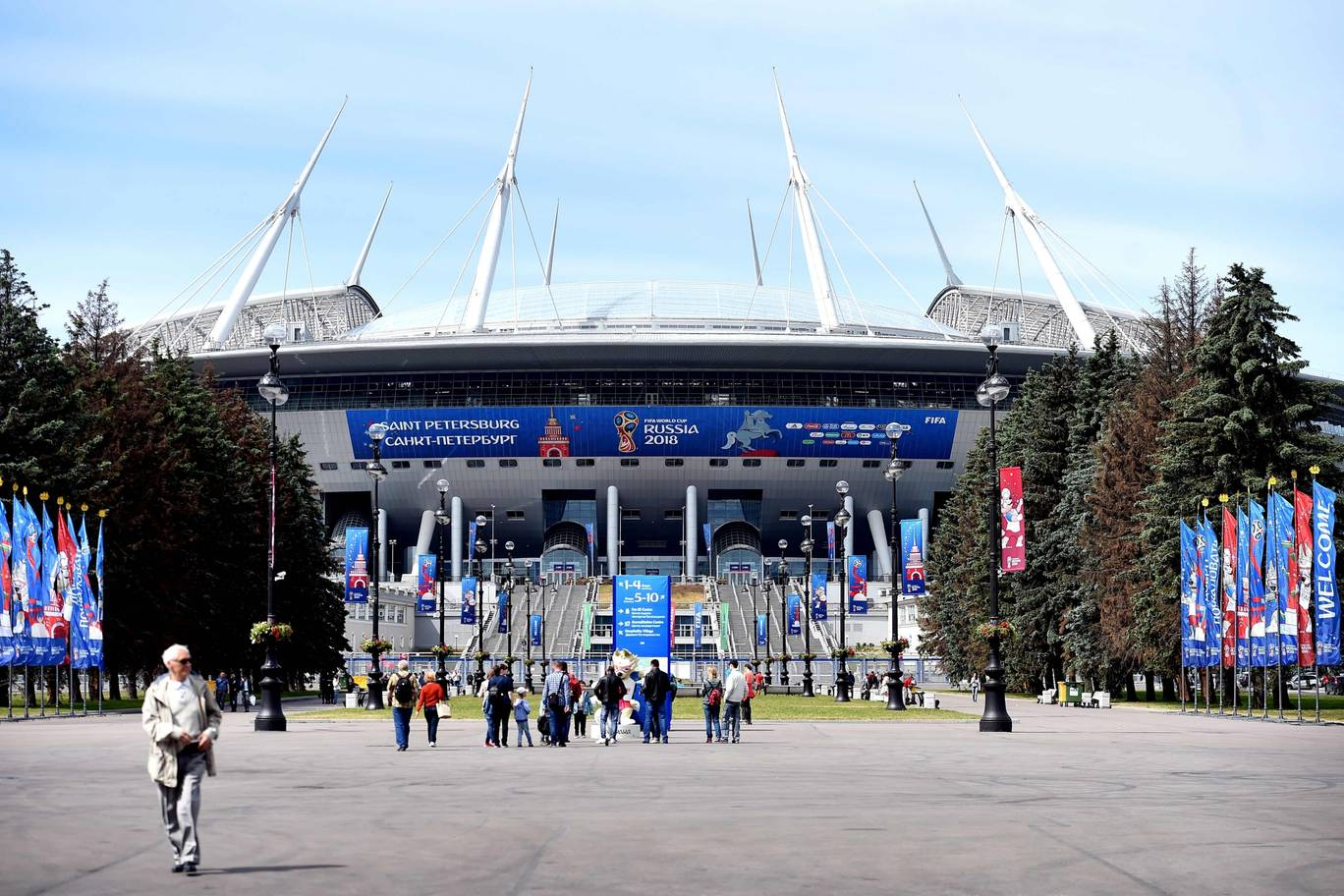 A view of the stadium in Saint Petersburg Russia