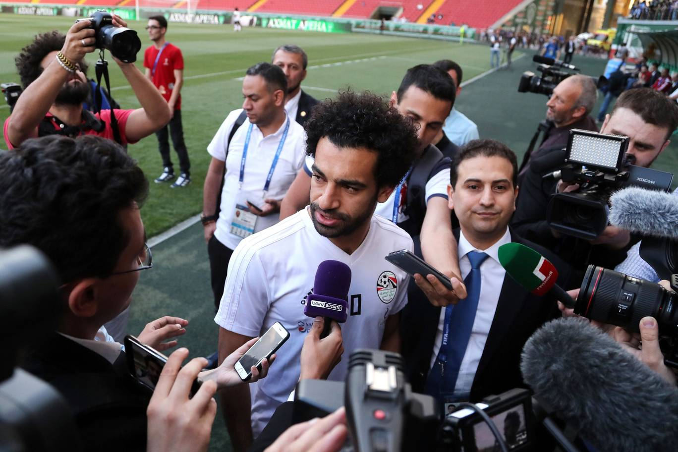 Egyptian national team football player and Liverpools star striker Mohamed Salah