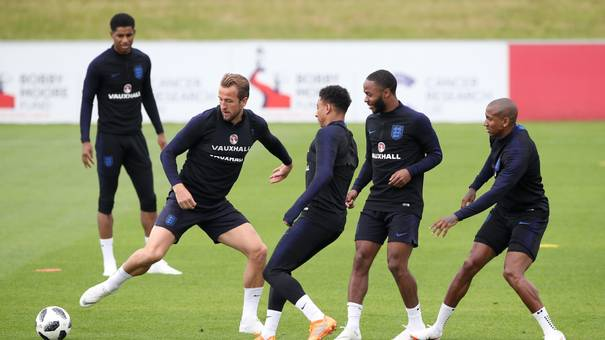 England during a training session at St Georges Park Burton
