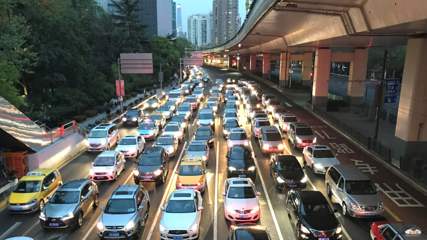 Rush hour in Shanghai. Suzuki struggled to grow in a market increasingly focused on SUVs