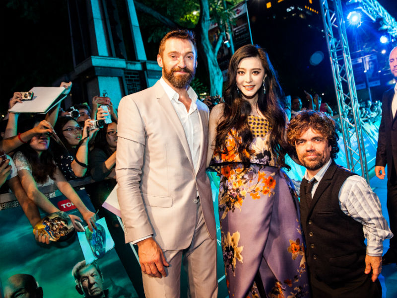Hugh Jackman Fan Bingbing and Peter Dinklage at X Men