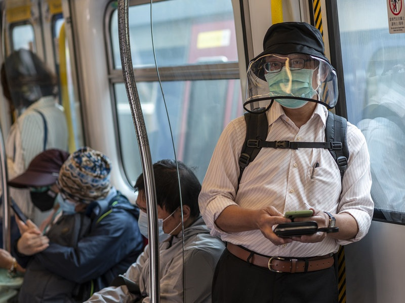 Hong Kong residents have been wearing increasingly more dramatic protective gear in response to the coronavirus outbreak